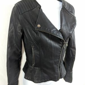 Topshop Vegan Leather Moto Jacket